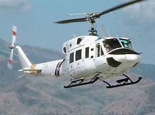 Military Air Craft Chopper Bell 212 helicóptero de arte cartel impresión imagen bb900a