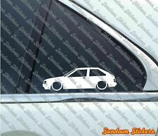 2X Low car outline JDM stickers - For Datsun Cherry Turbo / Nissan Pulsar N12