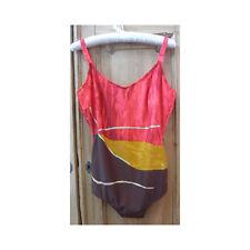 Dolores Cortes Orange Multi U/W Bathing Costume UK 20