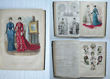 REVUE DE LA MODE - 1879 - 52 numéros in-folio / 53 gravures coloriées.