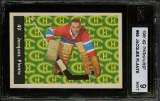 1961-62 PARKHURST HOCKEY~#49~JACQUES PLANTE~HOF~MONTREAL CANADIENS~KSA 9 MINT