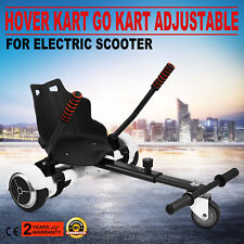 Adjustable Go Kart Cart HoverKart Stand Seat for Hoverboards- Black Color gift