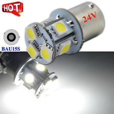 2x 24 Volt. White BAU15S 5050 8 LED Light Car Parker Turn Signal Indicator Globe