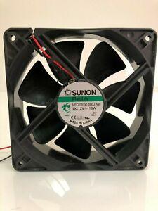 SUNON 120x120x38mm MEC0381V1-000U-A99 12V 10W 2-wire cooling fan 234m³/h 3100U/m