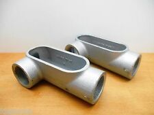 """LOT OF 2 COOPER LR57 FORM 7 CONDUIT OUTLET BODY, 1-1/2"""", NEW"""