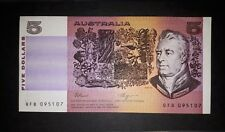 Australia 1990 FRASER/HIGGINS five $5 dollar nearly UNC note