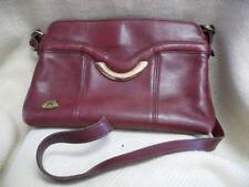 Etienne Aigner Burgundy Oxblood Leather Shoulder Bag Tote Handbag #2112