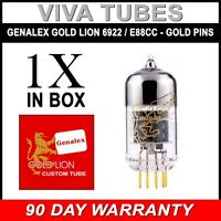 New Gain Tested Genalex Gold Pin Lion Reissue 6922 / E88CC (Hi-Fi 6DJ8) Tube