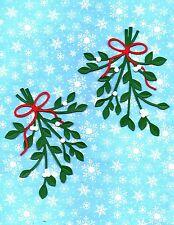 Quickutz Silhouette Large Christmas Mistletoe Die Cut Embellishments Sizzix