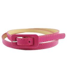 Women's Ladies Girls Cute PU Leather Thin Fashionable Belt Skinny Waistband