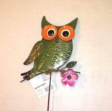 New listing Garden Owl Green Flower Welcome Daisy Purple Stake #45