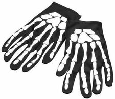 Guantes hueso estampado esqueleto unisex disfraz talla unica carnaval Halloween