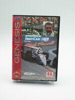 Newman Haas IndyCar Featuring Nigel Mansell Sega Genesis Game Tested Free Ship