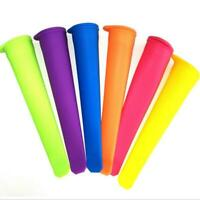 6 Pcs/set Silicone Popsicle Mold Ice Lolly Molds Ice P8E9 Ice Maker Snack C W1D4