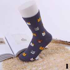 5 Colors Cat Socks Cartoon Animal Cute Pair Soft Winter Women 1 Cotto Gift 1#