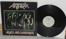 ANTHRAX Armed And Dangerous EP Vinyl Megaforce God Save The Queen PLAYS WELL