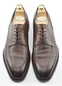 WORN 5x w TREES | EDWARD GREEN 9.5UK / 10 DOVER WALNUT SPLIT TOE DRESS SHOES
