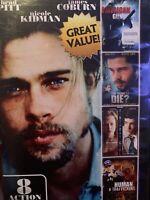 8 Movie Action Pack, Vol. 2 (DVD, 2012, 2-Disc Set) Brad Pitt ~ Matt Damon