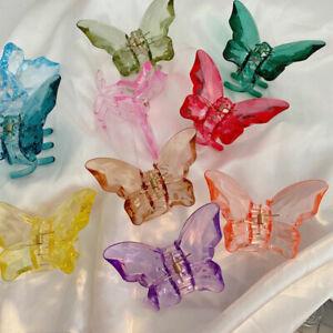 Butterfly Acrylic Hair Claw Hair Accessories Women Soild Transparent Hair Clip