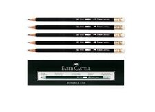 12Pcs 1Dozen Faber-Castell 1112 Black Pencil HB with Eraser Office Pens A
