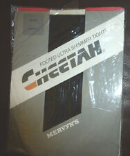 Cheetah Ultra Footed Shimmer Tights NOS  Size Medium Black Hose by Mervyns