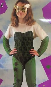 Girl's Poison Ivy Halloween Fancy Dress Birthday Party Costume Jumpsuit Eye mask