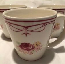 Waverly Garden Room ~ Vintage Rose Mug Cup ~ Pink & White
