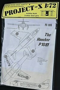 MAINTRACK HANGAR PROJECT-X 1/72 VACUUM FORMED MODEL KIT HAWKER P1081