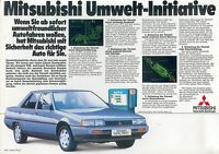 Mitsubishi Prospekt 1984 1985 Umwelt Initiative Galant Royal brochure broschyr