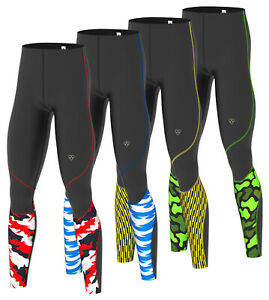 DHERA Men's  Compression Base Layer Pant Leggings Running Skin Tight Pants