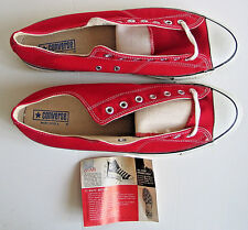 Vintage 70s USA Converse Chuck Taylor All Star Shoes Red Low Cut Sneakers 15