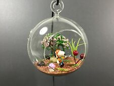 "Decorated Glass Terrarium - Snoopy - 4"" ball with flat bottom or loop to hang"