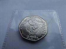 Isle of Man Christmas B/U 50p coin- The Snowman and the Snowdog    {AB}