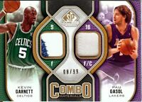 Kevin Garnett Pau Gasol 2009-10 SP Game Used Combo Dual Patch #CP-GG 08/99