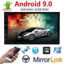 2Din 7in HD 2+32GB GPS Navi Car Stereo MP5 Player FM Radio WiFi Android 9.0