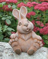 Steinfigur Hase Hoppel Osterdeko Osterhase Gartenfigur Gartendeko Deko-Figur
