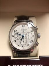 Longines Master Collection Chronograph Automatic White Dial Mens Watch Pre owned