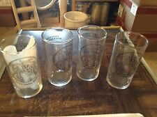 Set of 4 Rutter Brothers York PA York's Yankee doodle glasses