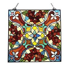 Stained Glass Victorian Window Panel Chloe Lighting Ch1P224Rf20-Gpn 20 Inches