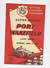 1958 Port Wakefield Easter Speed Programme Racing Touring Sports Car