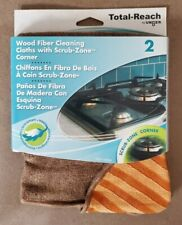 "2pk Wood Fiber Cleaning Cloth 12"" x 11-1/2"" Brown W/ Orange Corner ECO Friendly"