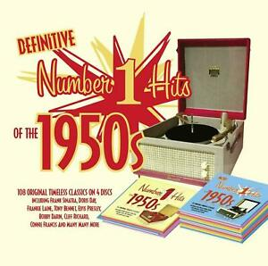 DEFINITIVE NUMBER 1 HITS OF THE 50s TIMELESS CLASSICS 4 CD SET NEW & SEALED