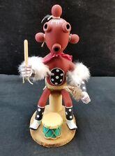 "Vintage Carved Hopi Kachina Mudhead  Signed 11"""