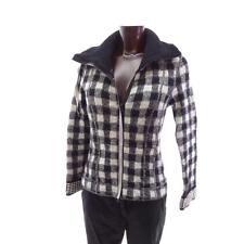 Karoblazer schwarz weiß N5 MARC CAIN 42 kariert Karo Wolljacke Strickjacke Wolle