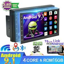 "7"" Android 9.1 2Din doble Radio de Coche GPS Navi Autoradio WIFI MP5 BT + Cámara"