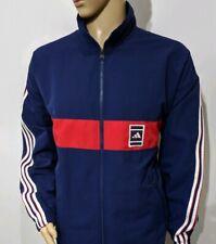Adidas Vintage 80s Mens Track Jacket Blue Red Firebird Trefoil Sz 42 / 44 UK XL