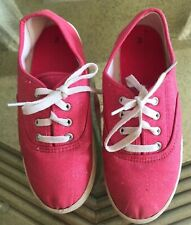 The Children's Place  Pink Glitter Size 3 Lace Up Shoes