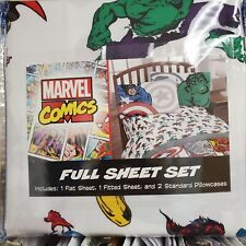 New 4-pc. Marvel Comics 4-pc. Full sz sheet set Hulk Spiderman 00000C98  Superman Thor $60