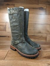 Jim Barnier Womans Brown Distressed Leather Mid-Calf Boots SIZE 8