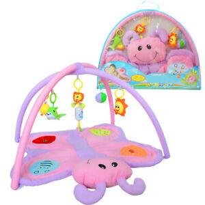 Baby Play Mat Soft Activity Gym Blanket Carpet with Rattles and Toys Butterfly